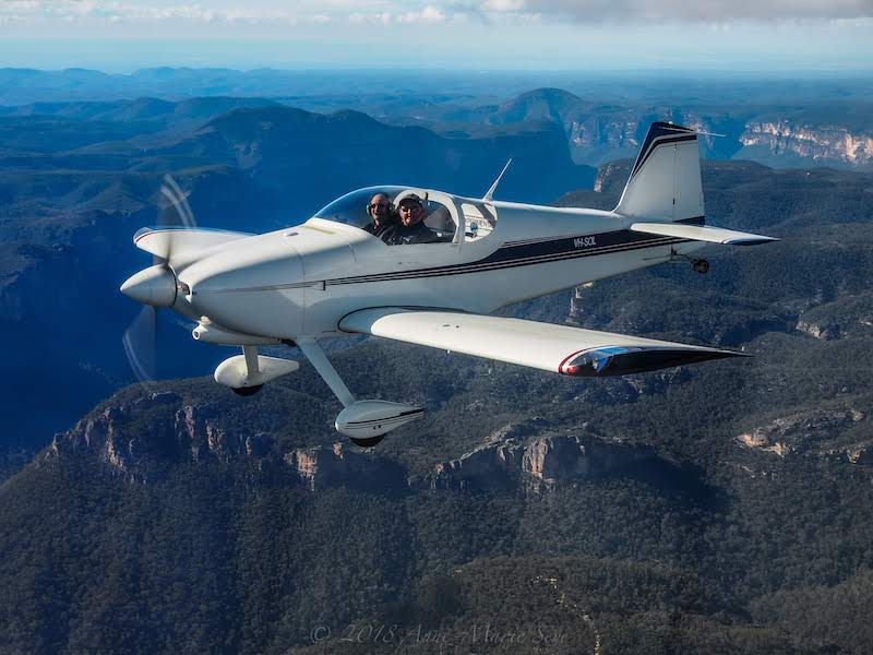 VH-SOL in the Blue Mountains, NSW